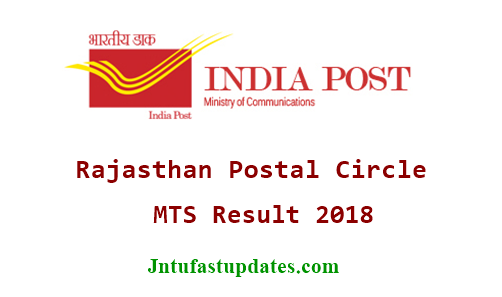 Rajasthan Postal Circle MTS Results 2018