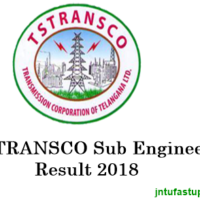 TSTRANSCO Sub Engineer Results 2018