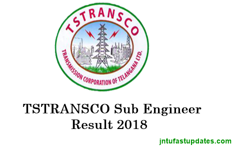 TSTRANSCO Sub Engineer Results 2018