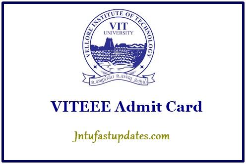 VITEEE Admit Card 2018 Download