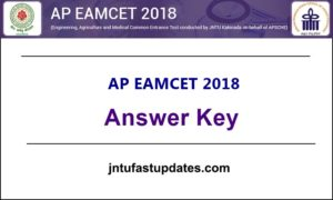 AP EAMCET Answer Key 2018 Download For Engineering With Question Papers @ sche.ap.gov.in