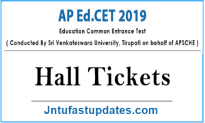 AP Ed.cet 2019 Hall Tickets