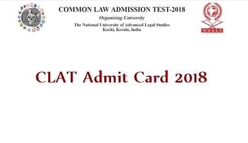 CLAT Admit Card 2018 Download