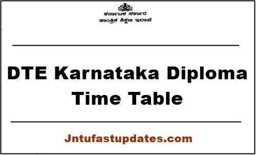 DTE Karnataka Diploma Time Table