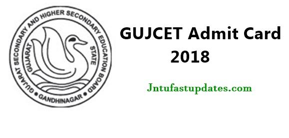 GUJCET Admit Card 2018
