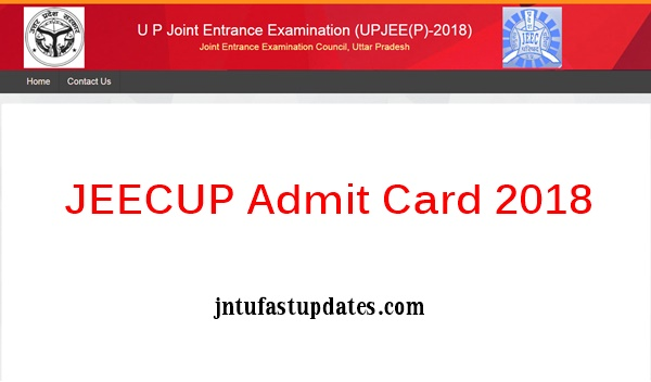 JEECUP Admit Card 2018 Download
