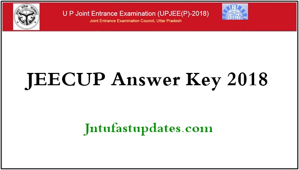 JEECUP Answer Key 2018