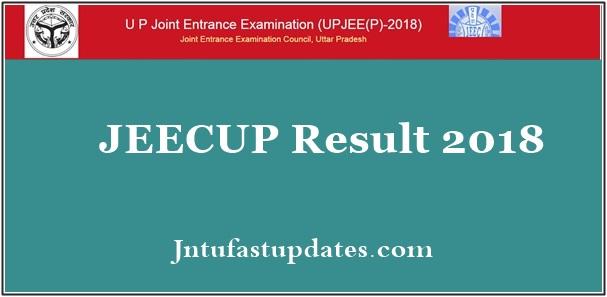 JEECUP Result 2018