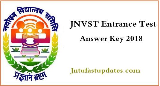 jnvst 2018 answer key 2018 class 6 download navodaya vidyalaya