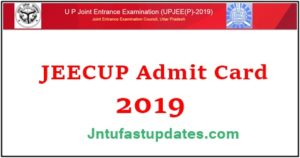 JEECUP Admit Card 2019