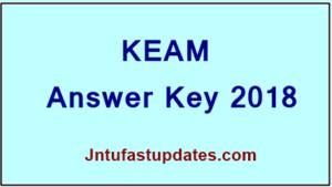 KEAM Answer Key 2018