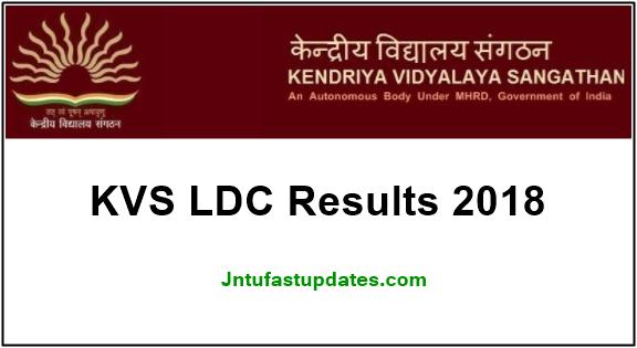 KVS LDC Result 2018