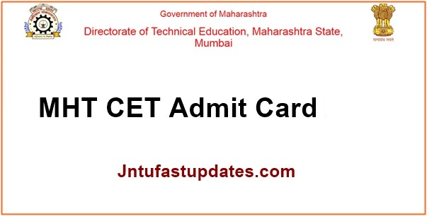 MHT CET Admit Card 2019