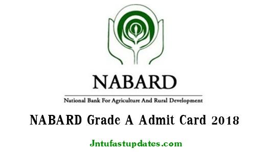 NABARD Grade A Admit Card 2018