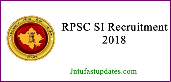 RPSC SI Recruitment 2018