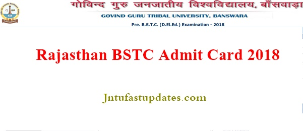 Rajasthan BSTC Admit Card 2018 Download