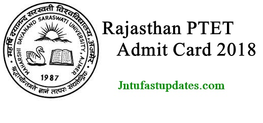 Rajasthan PTET Admit Card 2018 Download