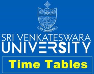 SVU Degree Time Tables 2018 – UG Yearly and 2nd, 4th, 6th Sem Time Table May 2018