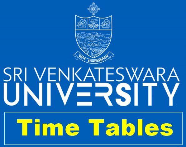 Sv-University time table