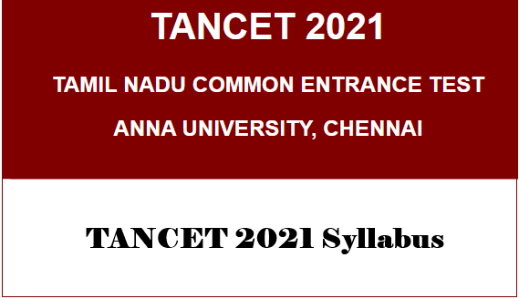 TANCET 2021 Syllabus