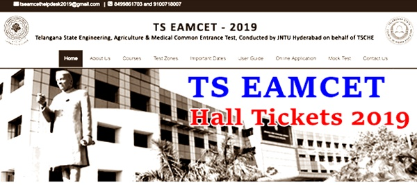 TS EAMCET Hall Ticket 2019