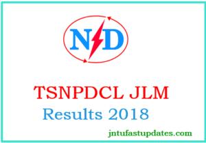TSNPDCL JLM Results 2018
