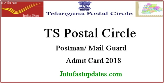 TS Postal Circle Postman/Mail Guard Hall Ticket 2018 Download