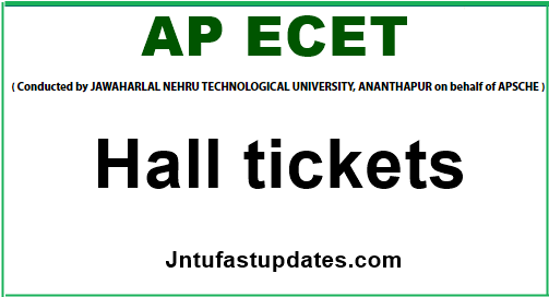 ap ecet 2019 hall tickets