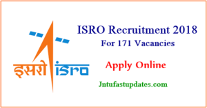 ISRO Recruitment 2018 Apply Online for 171 Junior Personal Assistant & Stenographer Posts @ isro.gov.in