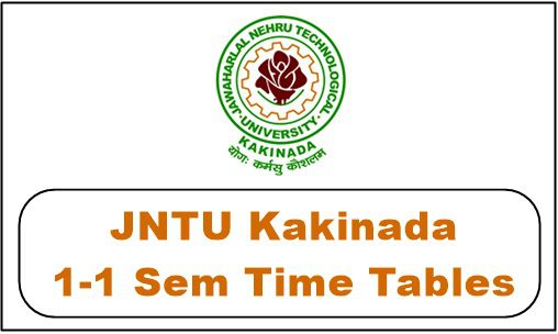 jntuk 1-1 time table 2018