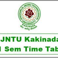 jntuk 2-1 time table 2018