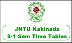 jntuk 2-1 time table 2018
