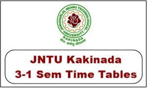 JNTUK B.Tech/B.Pharmacy 3-1 Sem (R13,R10) Supply Exam Time Tables May 2018