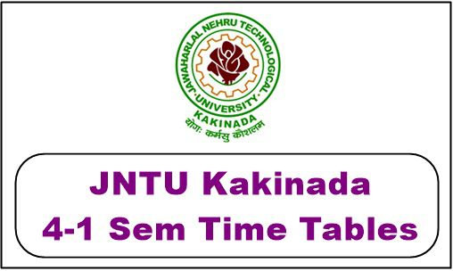jntuk 4-1 time table 2018