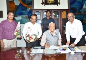 Prof. S. Ramakrishna Rao has assumed charge as In-charge Vice-Chancellor of  JNTUK, Kakinada