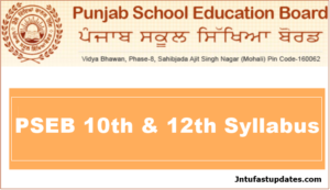 PSEB 10th & 12th Syllabus PDF Download For Academic Year 2018-19
