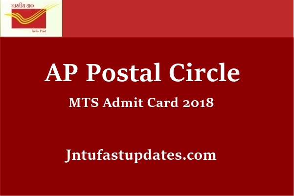 AP Postal Circle MTS Admit Card 2018