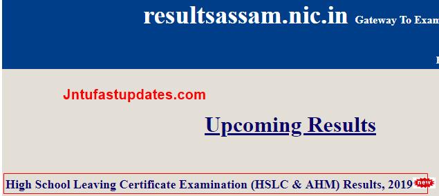 Assam hslc result 2019-2