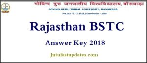 Rajasthan BSTC Answer Key 2018 (Official) Released – Download Solutions, Cutoff Marks @ bstcggtu2018.com