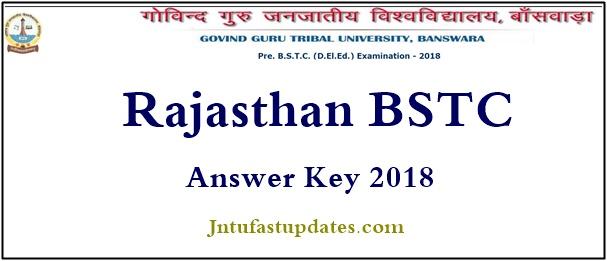 Rajasthan BSTC Answer Key 2018