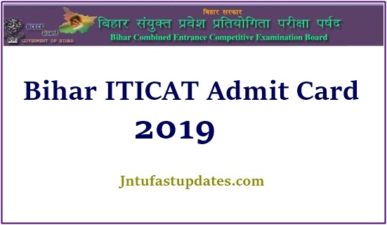 ITICAT Admit Card 2019