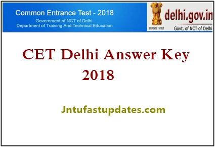 Delhi CET Answer Key 2018