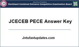 JCECEB PECE Answer Key 2018