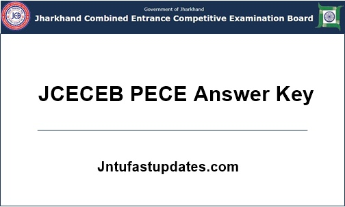 JCECEB PECE Answer Key 2018
