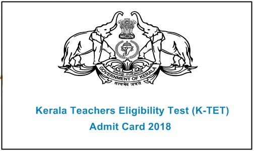 Kerala TET Admit Card 2018