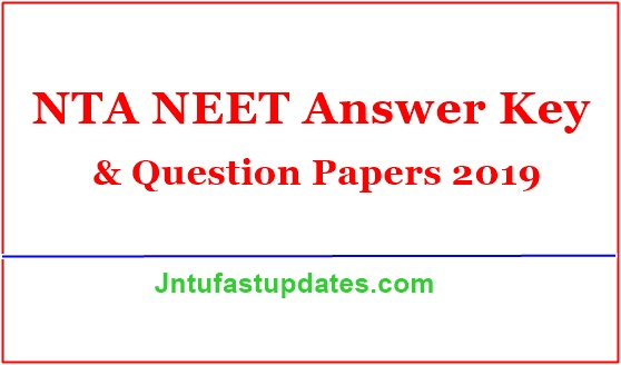 NEET Answer Key 2019