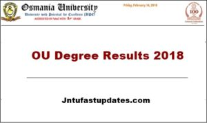 OU Degree Results 2018 (Released) – Manabadi Osmania University 1st, 2nd, 3rd Year Results of BA, B.Com, B.Sc