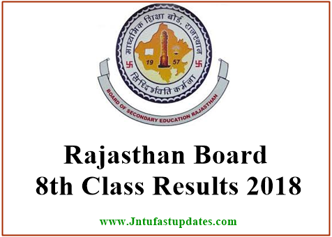 Rajasthan Board 8th Class Results 2018