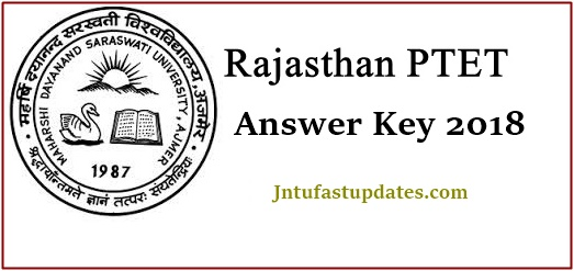 Rajasthan PTET Answer Key 2018