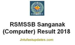 RSMSSB Sanganak Result 2018